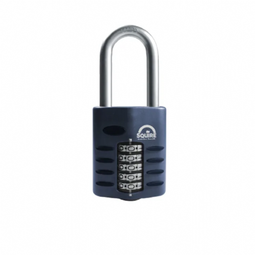 Squire CP60/2.5 Combination Padlock 5 Wheel 60mm Extra Long Shackle 63mm